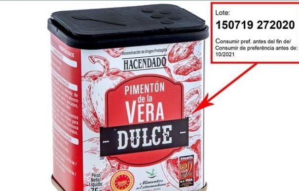 Mercadona retira un lote de pimentón dulce de la Vera