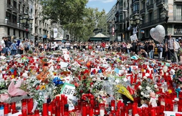 Conmemoración del atentado en Las Ramblas de Barcelona