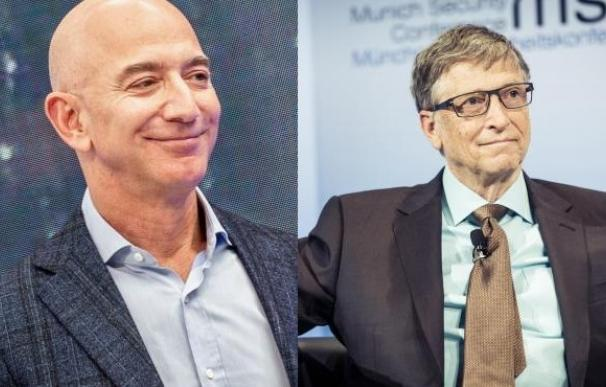 Jeff Bezos y Bill Gates.