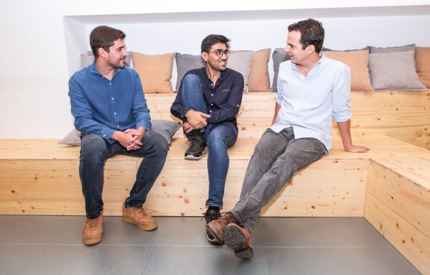 Los tres fundadores de Paack.
