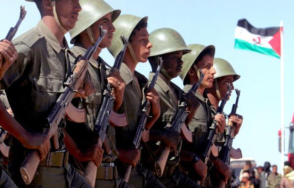 Varios militares del Ejército marroquí antes de su despliegue en la zona de conflicto.