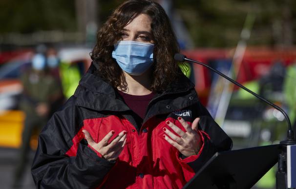Isabel Díaz Ayuso presenta el Plan de Inclemencias Invernales 2020-2021, en el Puerto de Cotos, Rascafría, Madrid 23