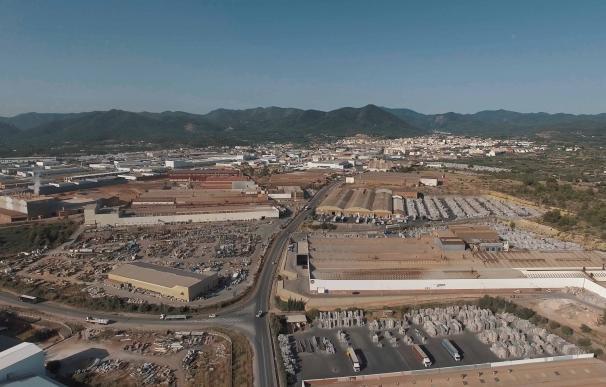 Imagen aérea de la nueva zona industrial y logística de la localidad castellonense de Onda.