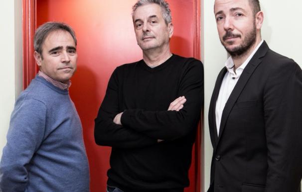 Los tres cofundadores de Filmin.