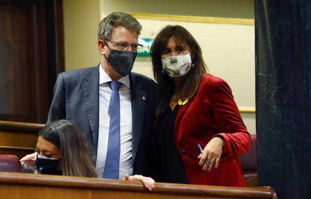 Los diputados del PDeCAT y Junts per Catalunya, Ferran Bel y Laura Borràs