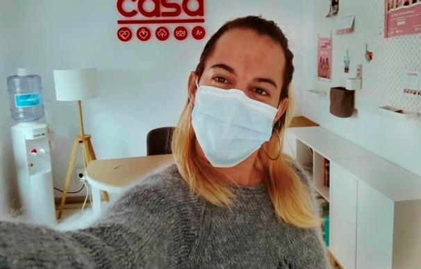 Marina, portadora de VIH y activista