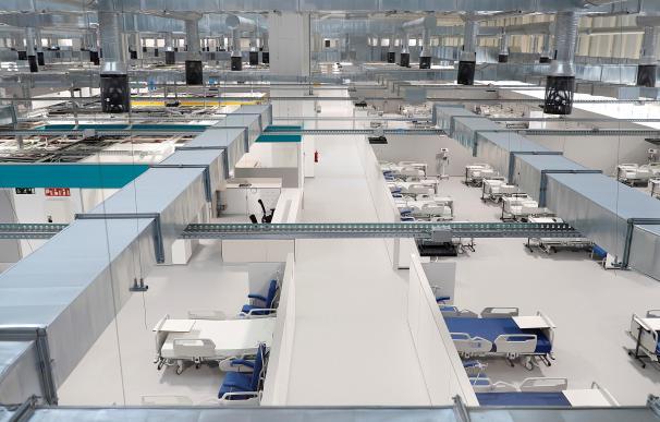 Vista del interior del Hospital Enfermera Isabel Zendal, nuevo centro de la sanidad pública de la Comunidad de Madrid.