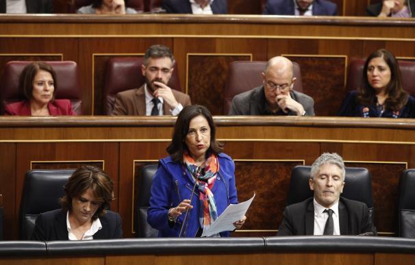 La ministra de Defensa y portavoz del Grupo Socialista en el Congreso de los Diputados, Margarita Robles, durante su intervención en un pleno. 14 noviembre 2018 Eduardo Parra / Europa Press (Foto de ARCHIVO) 14/11/2018