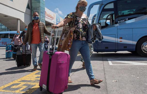Turistas, turismo España coronavirus mascarillas