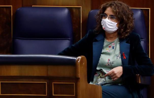 La ministra de Hacienda, María Jesús Montero, durante el debate de Presupuestos.