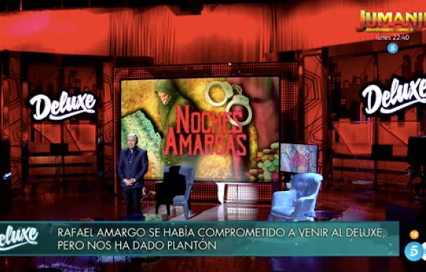"""'Sábado Deluxe' hunde a Rafael Amargo tras su plantón: """"Es algo indignante""""."""