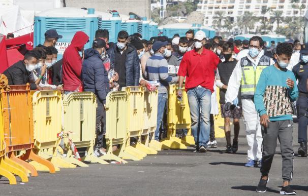 Inmigrantes Arguineguín, Gran Canaria
