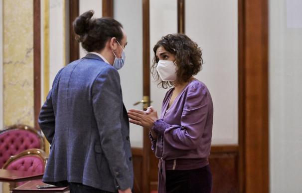 Montero e Iglesias el pasado miércoles en el Congreso