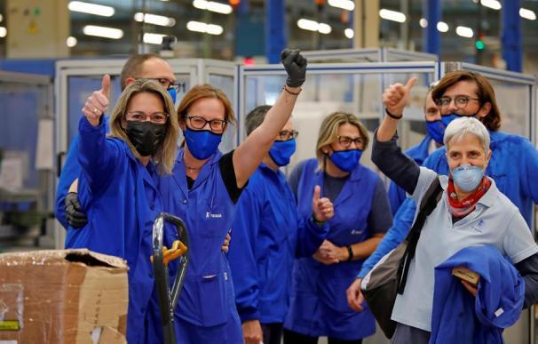 Los trabajadores de la industria de automoción Teixidó