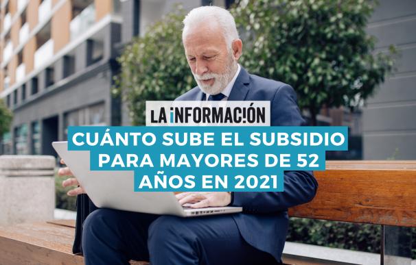 Nueva cuantía en 2021 del subsidio para mayores de 52 años.
