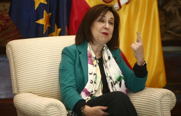 La ministra de Defensa, Margarita Robles, durante una entrevista con Europa Press, en Madrid