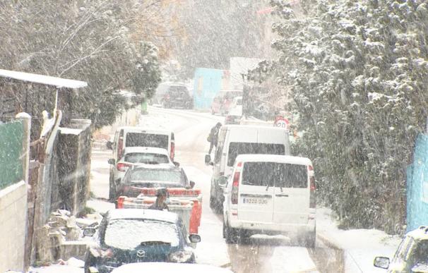 Imagen de la Cañada Real durante la nevada sobre Madrid de este fin de semana.