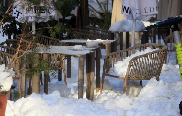 Filomena bar nieve Madrid