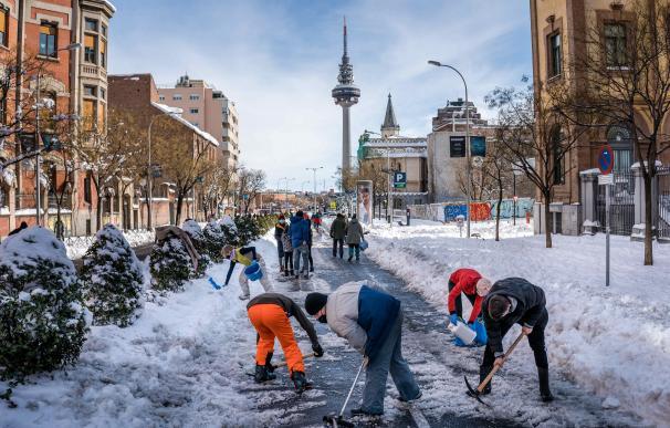 Limpieza de calles en Madrid