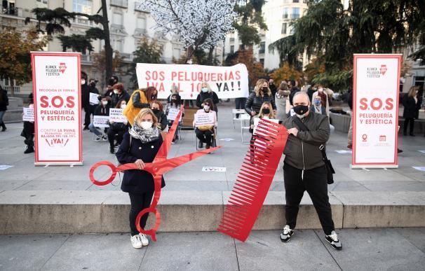 Gremio peluqueros manifestacion