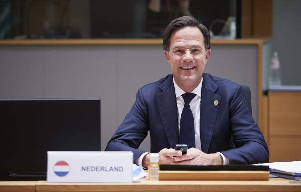 HANDOUT - 11 December 2020, Belgium, Brussels: Dutch Prime Minister Mark Rutte attends a round table meeting at the two days face-to-face European Council summit. Photo: Mario Salerno/EU Council/dpa - ATTENTION: editorial use only and only if the credit mentioned above is referenced in full (Foto de ARCHIVO) 11/12/2020 ONLY FOR USE IN SPAIN
