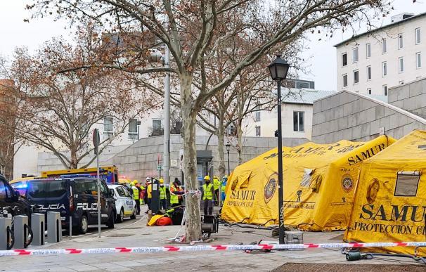 Las imágenes de la explosión en un edificio de la calle de Toledo, en Madrid.