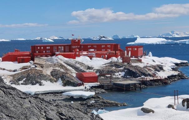 Base Antártica O'Higgins en la Antártida chilena. .