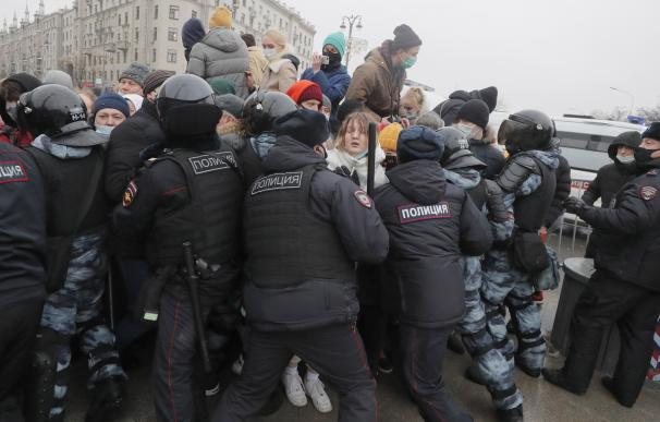 Manifestaciones en Moscú para pedir la liberación del opositor Navalni