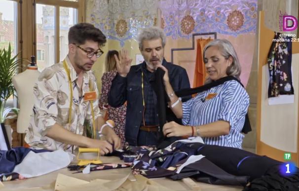 Un momento del estreno de 'Maestros de la costura'
