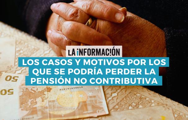 Los motivos de cancelación de la pensión no contributiva.