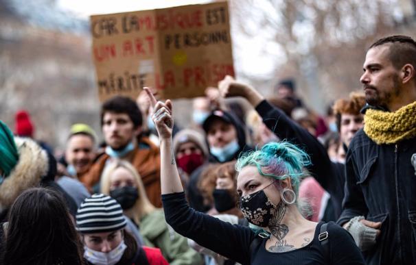 Manifestación contra la Ley de Seguridad Global en Francia