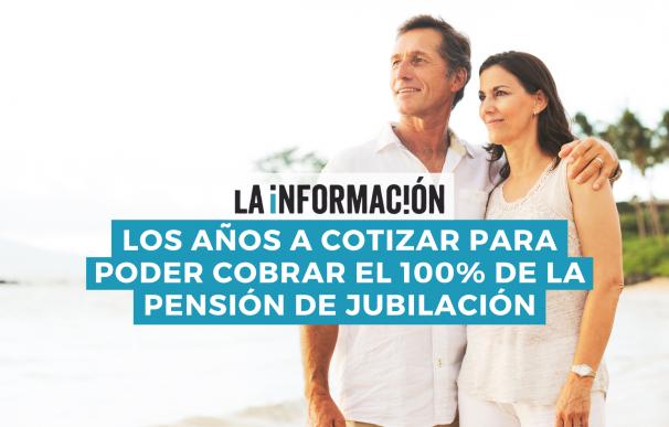 Los años a cotizar a la Seguridad Social para cobrar el 100% de la pensión aumentarán en los próximos años.
