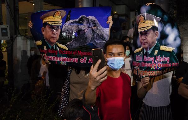 Protestas Birmania