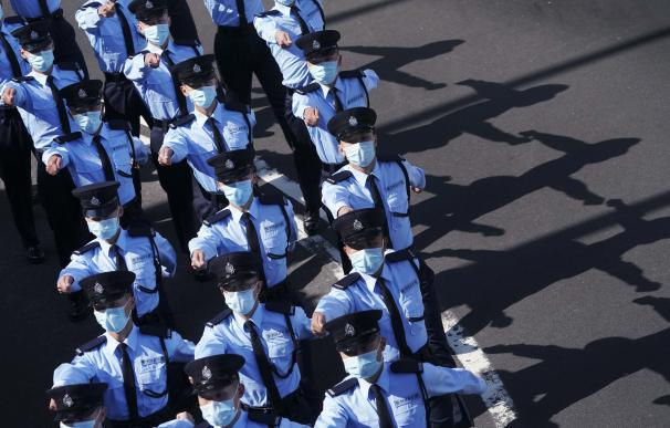 Agentes de Policía de China. FELIX WONG / ZUMA PRESS / CONTACTOPHOTO (Foto de ARCHIVO) 17/12/2020 ONLY FOR USE IN SPAIN