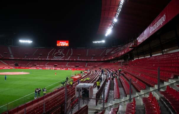 Detail of stadium during Semi-finals round of Copa del Rey, football match played between Sevilla Futbol Club and Futbol Club Barcelona at Ramon Sanchez Pizjuan Stadium on February 10, 2021 in Sevilla, Spain. AFP7 / Europa Press 10/2/2021 ONLY FOR USE IN SPAIN
