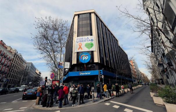 Imagen de la sede del PP, en la calle Génova de Madrid