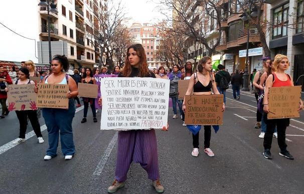 Participantes en la manfestación del 8M EUROPA PRESS (Foto de ARCHIVO) 8/3/2020