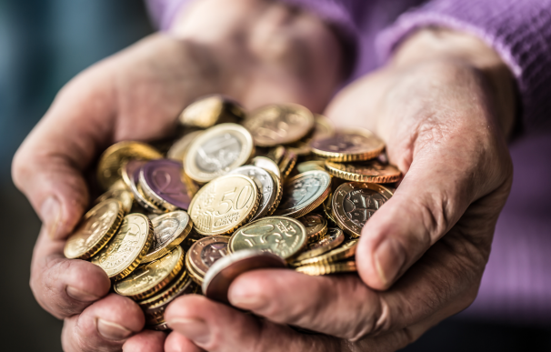 Dinero, euros, jubilado, pension