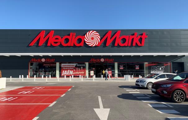 Fachada de la tienda MediaMarkt en Jaén. MEDIAMARKT (Foto de ARCHIVO) 19/11/2020