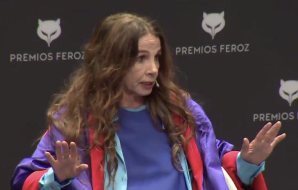 Victoria Abril en la rueda de prensa de Los Feroz