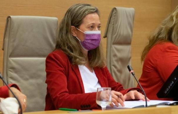La delegada del Gobierno contra la Violencia de Género, Victoria Rosell, comparece en la Comisión de Seguimiento del Pacto de Estado de Violencia de Género del Congreso CONGRESO (Foto de ARCHIVO) 14/10/2020