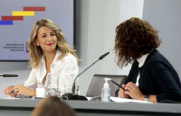 Yolanda Díaz y María Jesús Montero