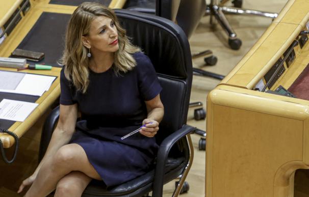 La ministra de Trabajo, Yolanda Díaz, en el Senado.