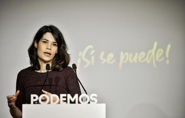 La portavoz de Podemos, Isa Serra,