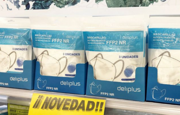 Pack de tres mascarillas FPP2 en Mercadona.