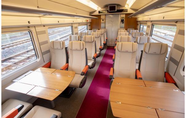 Interior del AVLO, el tren AVE low cost de Renfe RENFE (Foto de ARCHIVO) 17/1/2020