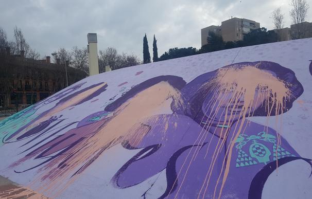 Réplica del mural de Ciudad Lineal en Alcalá de Henares vandalizado EUROPA PRESS 7/3/2021