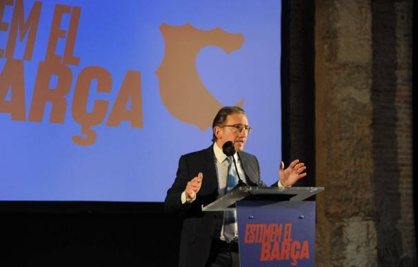 El responsable del área económica de la candidatura 'Estimem el Barça', Jaume Giró, en un acto de campaña de la candidatura liderada por el presidenciable del FC Barcelona Joan Laporta. 'ESTIMEM EL BARÇA' (Foto de ARCHIVO) 4/2/2021