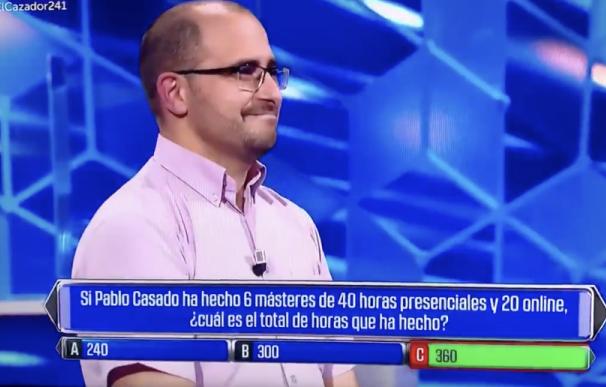Pregunta polémica de 'El Cazador' sobre Pablo Casado.