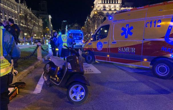 Accidente de motocicleta en Madrid